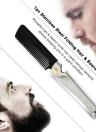 Peine de acero inoxidable Peine de pelo Comb Peine de cuidado de la salud Peine de pelo y barba Peine