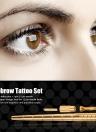 Caneta manual de tatuagem de sobrancelha com kit de maquiagem permanente de agulha de 12 pinos