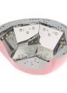 Abody 26 / 42W lámpara ULTRAVIOLETA del clavo LED Secadora profesional de la uña y uña del dedo del gel que cura la máquina del clavo de la luz 100-240V Rosa enchufe de Reino Unido