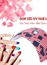 36W LED Nail Lamp UV Nail Dryer Nail Polish Lamp for Fingernail & Toenail Gel Curing White Light Manicure Lamp Nail Tool Optional US/EU/UK/AU Plug
