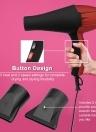 Pro secador de pelo soplador de pelo con boquilla 2100W lons negativos secador de pelo para peluquería salón peluquería herramientas