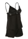 Moobody Сексуальное белье костюм шнурка женщин Ночное Backlessed Белье Ночь платье Nightgown черный Большой размер