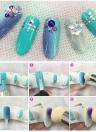 Nail Art Sponge Brush Double Headed Nail Art Brush Acrylic Nail Gradient Shading Pen Nail Powder Brush Manicure Tool