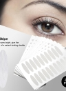 240 Pairs Eyelid Stripe Waterproof Eyelid Tape Adhesive Invisible Double Fold Eyelid Shadow Sticker Paste Clear Beige