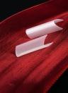 500pcs / Pack Couleur naturelle Art Faux ongles Conseils C-forme ongles français Conseils Acrylique C Curve Faux ongles Mold Outils 10 Tailles faux ongles Conseils