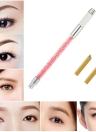 1pc Sourcils Tattoo Pen + 2pcs 12 Pins tatouage lame Aiguilles Manuel Maquillage Permanent Pen Kit Tatouer broderie Sourcils Pen Rose