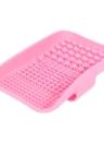 Anself Silicone Cosmetic Brush Cleaner Pad de maquillage Brosse de nettoyage Mat Brosse à laver Outil à laver Scrubber Rose
