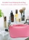Viaje portátil Bolsa de Cepillo de Maquillaje Organizador de Bolsa de Cosméticos Impermeable de Gran Capacidad Multifunción Caja de Almacenamiento para Las Mujeres