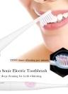 Seago Sonic brosse à dents électrique imperméable à l'eau adulte propre nettoyage brosse à dents avec 2 têtes de brosse de remplacement