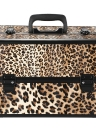 Lockable Foldable Cosmetic Organizer Box Make Up Case