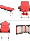 Abody 3 Fold Table de massage portative Facial SPA Bed Therapy Massage Bed