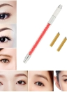 1pc Sourcils Tattoo Pen + 2pcs 12 Pins tatouage lame Aiguilles Manuel Maquillage Permanent Pen Kit Tatouer broderie Sourcils Pen Rouge