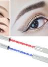 1pc manuelle Doppeldigen Augenbrauen Tattoo Pen Arcylic Permanent Make-up Pen Kreuz Nadel Tätowieren Stickerei Augenbraue-Feder