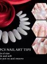 504pcs Čelar del arte del clavo extremidades falsas uñas redonda de la cubierta completa del salón del clavo de DIY del clavo Tip 6 Tamaño transparente