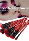 10Pcs Mermaid Cosmetic Brushes Kit Ensemble de brosse à maquillage