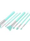 7Pcs Silicone Makeup Brush Kit Facial Mask Brush Foundation Eyeshadow Eyebrow Brush Cosmetic Tool  化妆刷