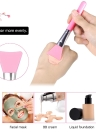 1Pcs Silicone Makeup Brush Facial Mask Foundation Brush Cosmetic Brush Make Up Tool Optional Color