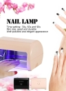 9W Nail Lampe LED Ongle Ongle Gel Durcissement Sèche-ongles professionnelle machine Nail Gel Nail Salon Beige US Plug