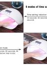 LED UV Nail Lamp Nail Gel Dryer Fingernail & Toenail Gel Curing White Light Nail Art   Painting Nail Tool 50W US/EU Plug
