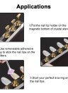 5pcs/set Magnetic Nail Tips Stand Holders Acrylic Long Crystal Practice Stand Display  Manicure Tools