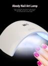Nail abody lámpara ultravioleta del gel de Secador de uñas y uñas de los pies del gel que cura la luz blanca de la pintura del arte del clavo herramienta del salón 24W Rosa Plug EE.UU.