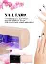 9W LED prego lâmpada Unha Unha Gel de cura Secador Professional Nail Máquina unhas de gel para Nail Salon plug Bege UE