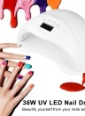 36W UV LED Auto Sensor Cura UV LED Nail Gel Polish