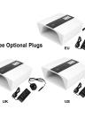 Anself 48W/60W Adjustable UV LED Nail Lamp Professional Nail Gel Dryer Machine LED Nail Lamp Fingernails Toenails Curing Equipment Nail Art Tool US/EU/UK Plug
