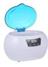 Limpador ultra-sônico Esterilizador de unha Limpador de jóias e óculos ultra-sônicos Máquina de limpeza profissional para óculos Relógios Anéis Colares 600ML EU Plug