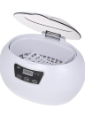 Limpiador Ultrasónico Esterilizador de Uñas Joyería Ultrasónica y Limpiador de Gafas Máquina de Limpieza Profesional para Gafas Relojes Anillos Collares 600ML Enchufe de LA UE