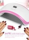 36W LED Nail Lamp UV Gel Nail Dryer Machine Manicure Lamp for Fingernails Toenails Curing Nail Art Tool US/EU/UK Optional Plug