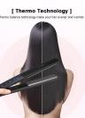 Professional Hair Straightener Ceramic Titanium Plate Flat W/ LCD Touch Screen Anti-scald 130-230℃ Adjustable Temperature Level EU Plug