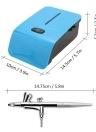 Set di aerografo portatile Set di piccole pompe a spruzzo Set di compressore d'aria per la pittura Art Tattoo modello spray per torta