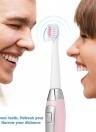 Seago Sonic Electric Toothbrush Waterproof 2 modos de cepillado adultos blanqueamiento cepillo de dientes con 3 reemplazos cabezas de cepillo con pilas