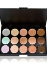 15 Color Cream Concealers Palette Earth Tone with Makeup Brush Set
