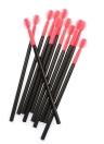 50pcs profissional Silicone Mini cabeça Lash do pincel Pack bola preta forma escova cílios pontuais encrespador considerável Pack