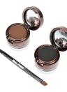 Musique fleur 4 en 1 sourcil & Eyeliner crème imperméable cosmétique ensemble pour oeil maquillage noir & Brown