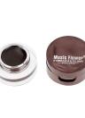 Música flor 4 en 1 ceja & delineador crema impermeable cosmética Set para maquillaje de ojos negro y marrón