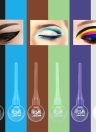 Music Flower Color Liquid Eyeliner Pen Lollipop Shape