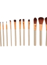 12 PCS Facial Makeup Brush Set With Metal Box