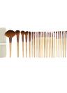 29pcs Abody maquillaje cepillos Kit profesional maquillaje cosmético conjunto mango madera cepillo de fibra extrafina + funda bolso