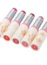 Moda maquiagem batom longa duração cor opcional clássico branco arredondado tubo
