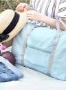 Voyage Sac Grande Capacité Hommes Pliable Étanche À Main Bagages Nylon Voyage Duffle Sacs Unisexe Week-End Sacs Multifonctionnel Femmes Pliant Sacs À Main Voyage Sacs Rose