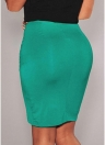 Stretch Draped High Waist Asymmetric Ruched Sexy Mini Pencil Skirt