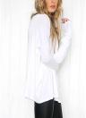 Women Loose O Neck Off Shoulder Long Sleeve Casual Top