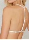 Новая Европа Женщины Sexy Sheer кружева бюстгальтер выдалбливают недополненной регулируемый ремень Bralette белье КМПАС культур Топ белый/черный