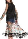 Frauen lange Kimono Ärmel Strickjacke