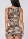 Traje de estampado de camuflaje de mujer sexy