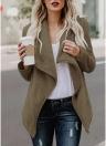 Femmes Drapé Manteau en molleton Faux Fur Fleece