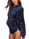 Women's Velvet Kangaroo Pocket Hoodies Sets